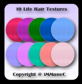 10 Life Hair Textures With Resell Rights