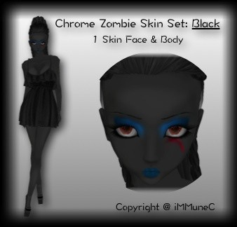 1 Black Zombie Skin Texture