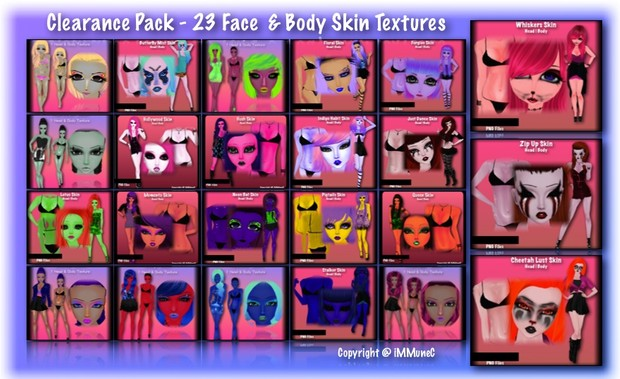 Clearance Skin Pack 1 With Resell Rights