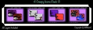 8 Creepy Icons (Set 1) With Resell Rights