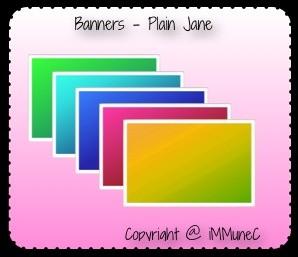 5 Plain Jane Banners