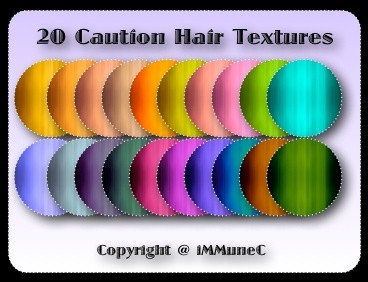 20 Caution Hair Textures With Resell Rights