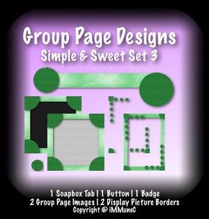 7 Piece Simple & Sweet Set 3 Group Page Design