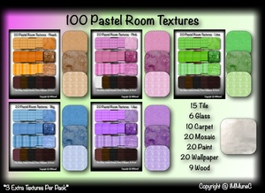 100 Pastel Room Textures With Resell Rights