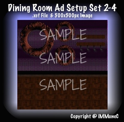 1 Dining Room Advertisement Set 2-4
