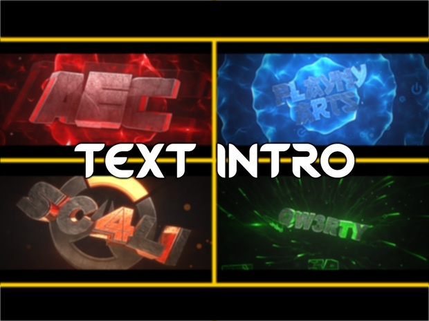 Intro   Text 3D ( FULL ORDERSSSSSS )