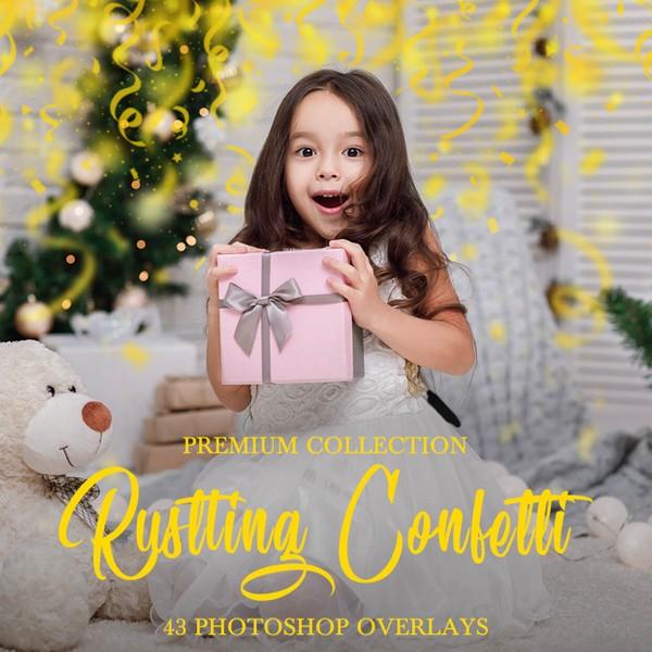 Confetti Photoshop Overlays