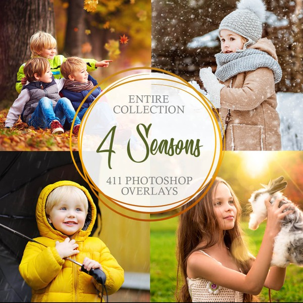 Four Seasons Collection Photoshop Overlays