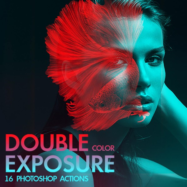 Color Double Exposure Photoshop Actions