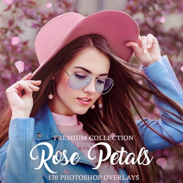 Rose Petals Photoshop Overlays