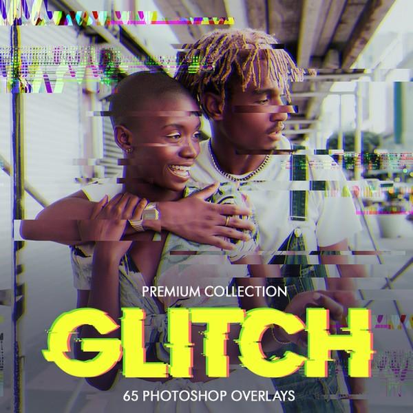 Glitch Photoshop Overlays