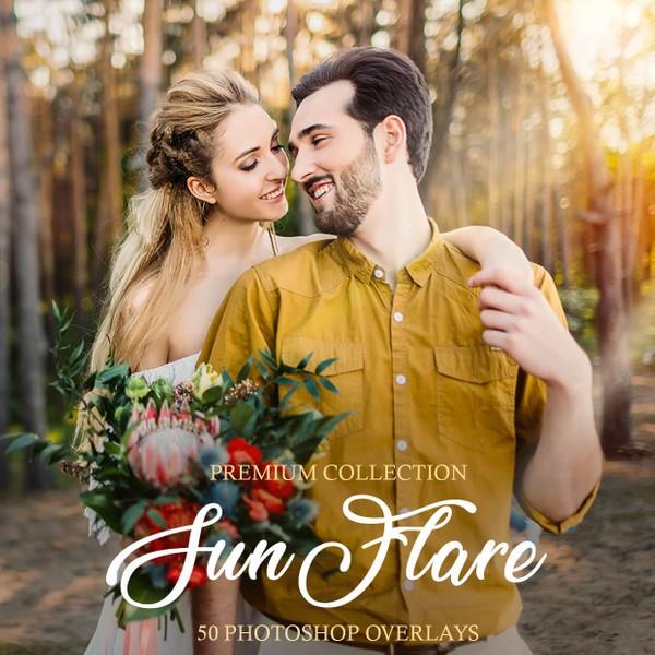 Sun Flare Photoshop Overlays