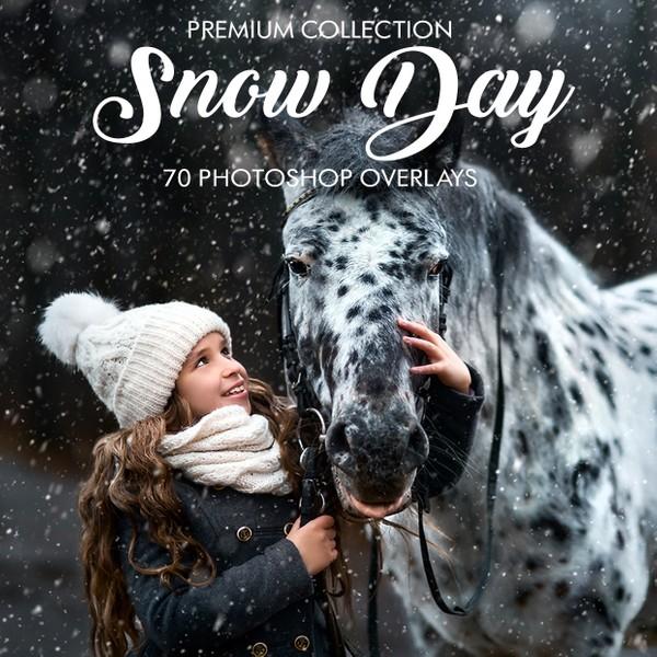 Snow Day Photoshop Overlays