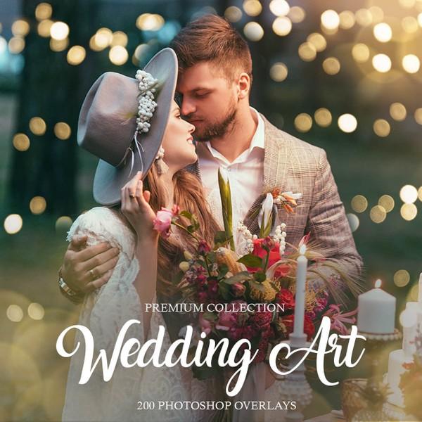 Wedding Bokeh Photoshop Overlays