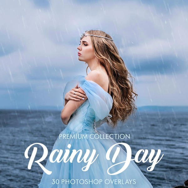 Rain Photoshop Overlays