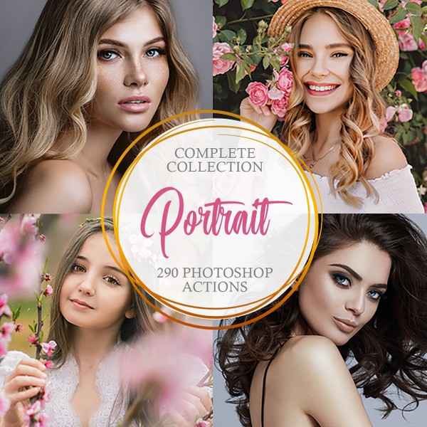 Portrait Photoshop Actions - Complete Collection