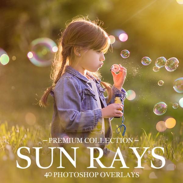 Sun Rays Photoshop Overlays