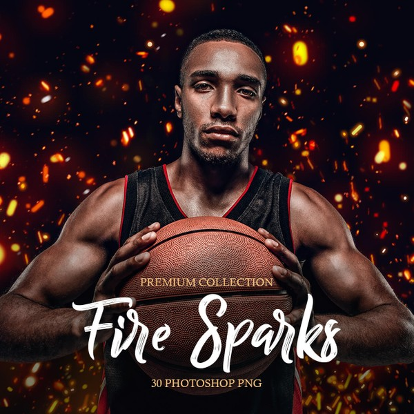 Fire Sparks Photoshop Overlays