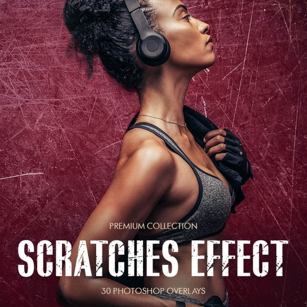 Scratches Effect Photoshop Overlays