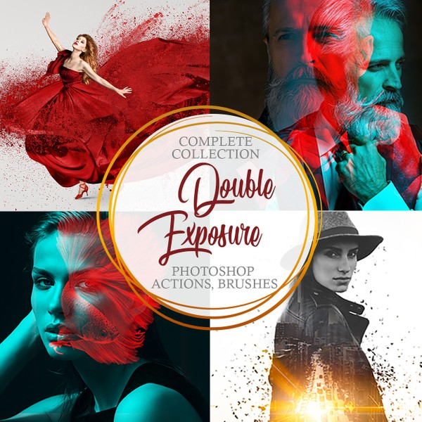 Double Exposure Photoshop Actions - Complete Collection