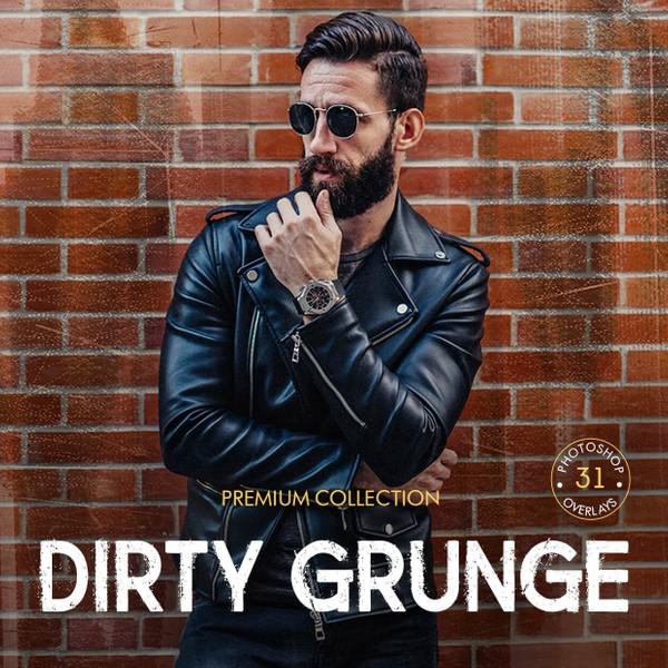Dirty Grunge Photoshop Overlays
