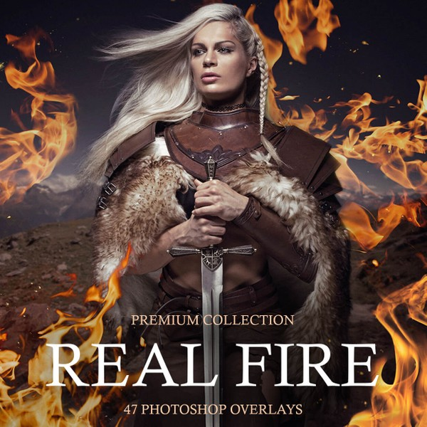 Real Fire Photoshop Overlays