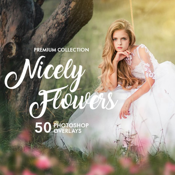 Nicely Flower Photoshop Overlays