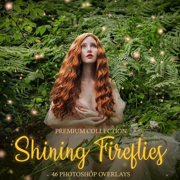 Shining Fireflies Photoshop Overlays