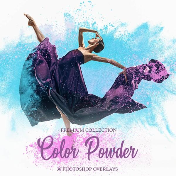 Сolor Powder Photoshop Overlays