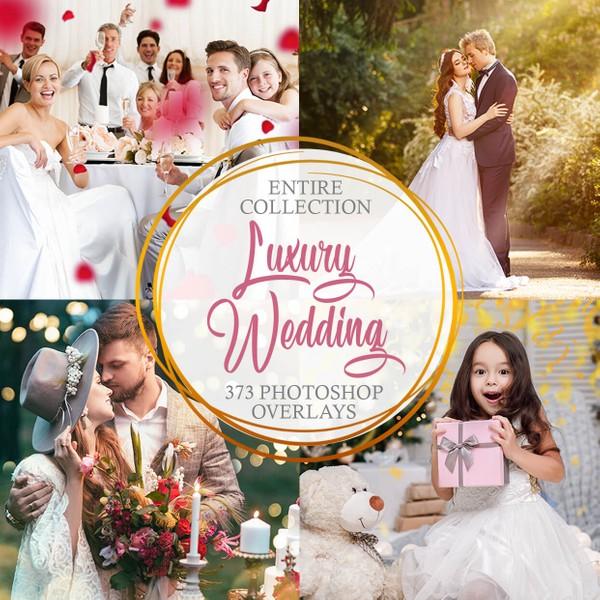 Luxury Wedding Collection Photoshop Overlays