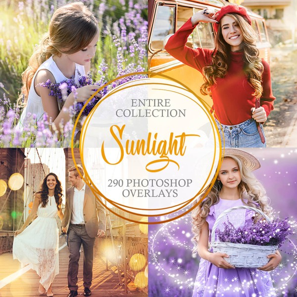 Sunlight Complete Collection Photoshop Overlays
