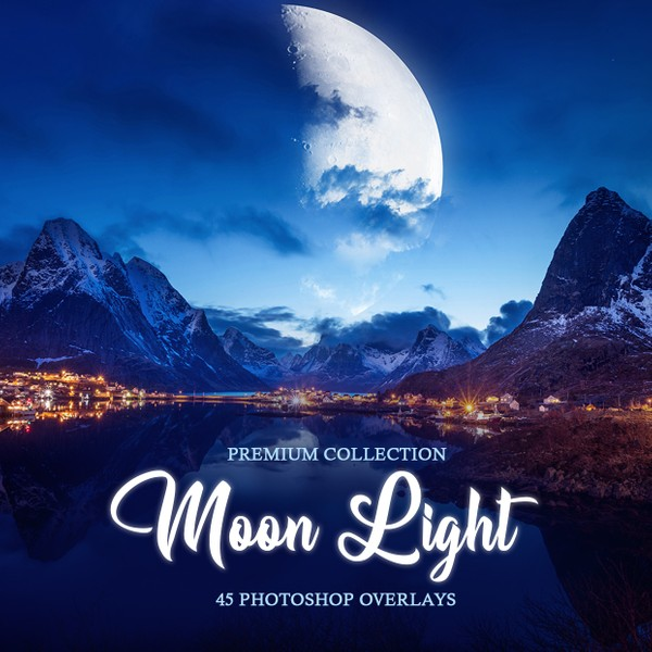 Moon Photoshop Overlays