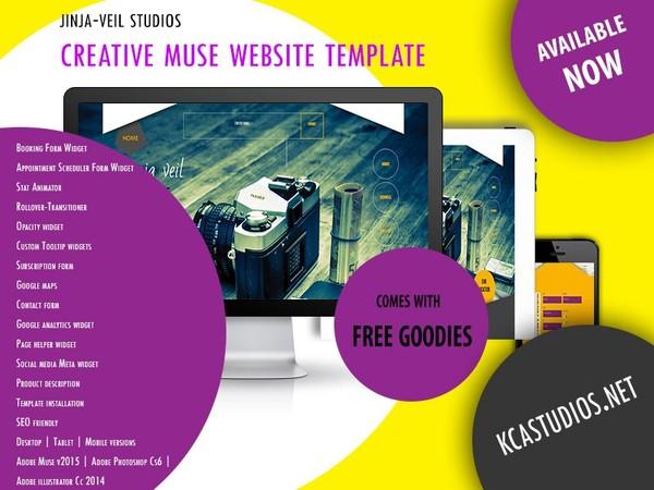 Jinja-veil Studios - Creative premium muse Template