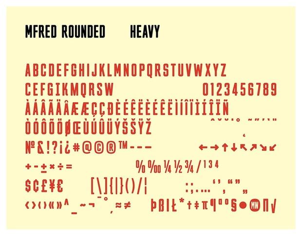 MFred Rounded Typeface Regular & Heavy (1-2 User License)