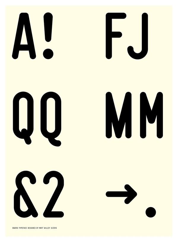 BWord Typeface Regular & Bold (1-2 User License)