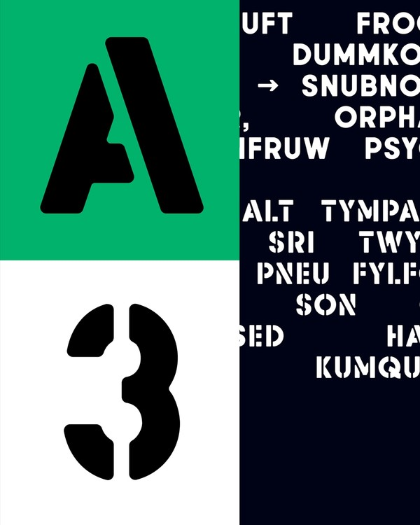 AType Stencil Typeface (1-2 User License)