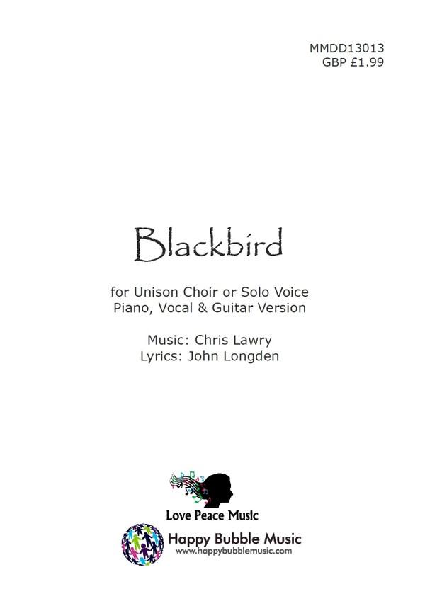 Blackbird Vocalpiano Score Chris Lawry