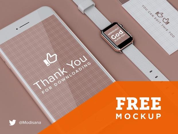 UI & Branding Design Mockup