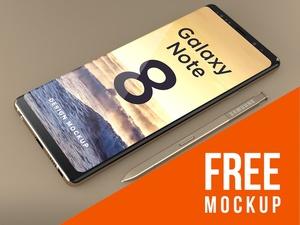 FREE Samsung Galaxy Note 8 Design Mockup