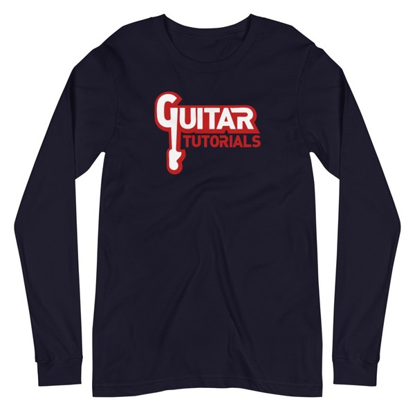 Guitar Tutorials Long Sleeve T-Shirt