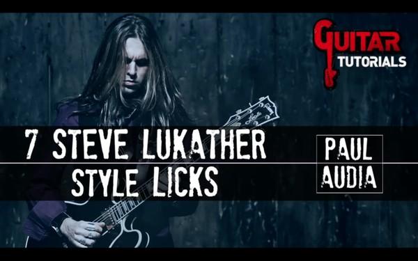 Paul Audia - 7 Steve Lukather Style Licks
