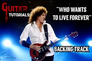 Queen - Who Wants To Live Forever - Guitar Backing Track (Solo Part)
