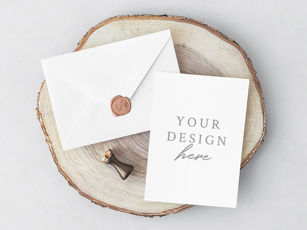 Free Psd Invitation Card Envelope Lena Zakharova