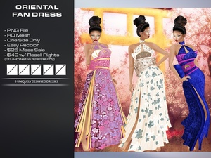 ORIENTAL FAN DRESSES