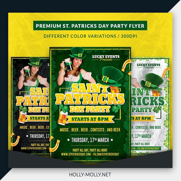 St. Patricks Day Party Flyer Template