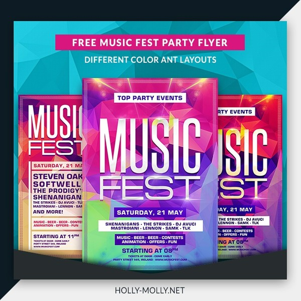 Music Festival Party Flyer Template