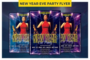 Exclusive New Year Eve party Flyer Template