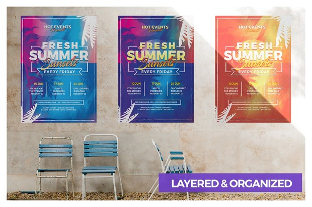 Fresh Summer Events Flyer Template