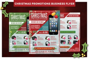 Christmas Business Promotions Flyer Template