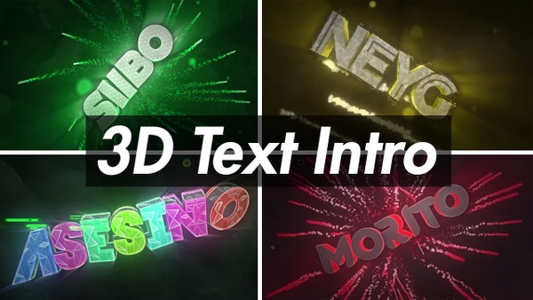 3D Text Intro (2/5)